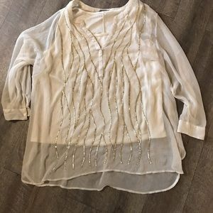 Catherine blouse with Gold sparkly design size 2X